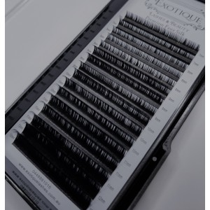 EXOTIQUE Eyelash Extensions D Curl Mixed 7 -12mm x 0.07mm (16 Row Tray)