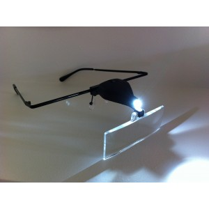 EXOTIQUE Eyelash Extension Magnifying Glasses with LED Light