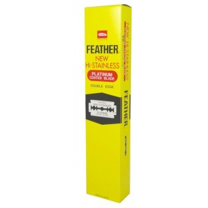 Blades Feather Double Edge Razor Pkt 5 x 20