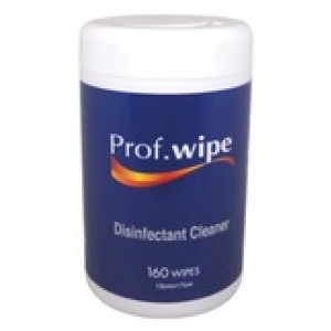 Prof.Wipe Disinfectant Cleaner Wipes Pkt 160