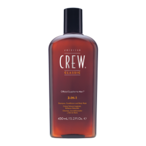 American Crew 3 in 1 Shampoo, Conditioner & Body Wash 450ml