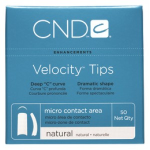 CND Velocity Tip Pkt 50 Natural No 1