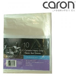 Caron Heavy Duty Plastic Bed Sheet Pkt 10