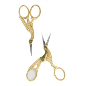 Gold Stork Wrap Scissors