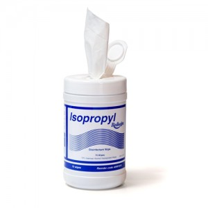 Isopropyl Disinfectant Wipes Pkt 75