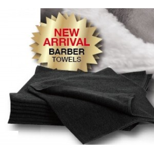 Towel Barber Black Pkt 10