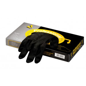 Gloves Black Reusable  - Pkt 20 Small, Medium, Large