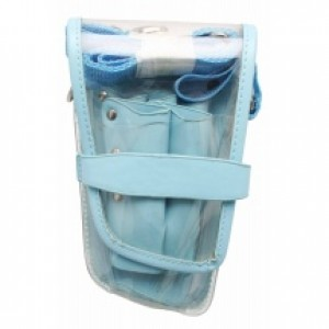 Scissor Holster Clear Blue Trim
