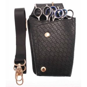 Scissor Holster Black Weave Look With Waist Strap